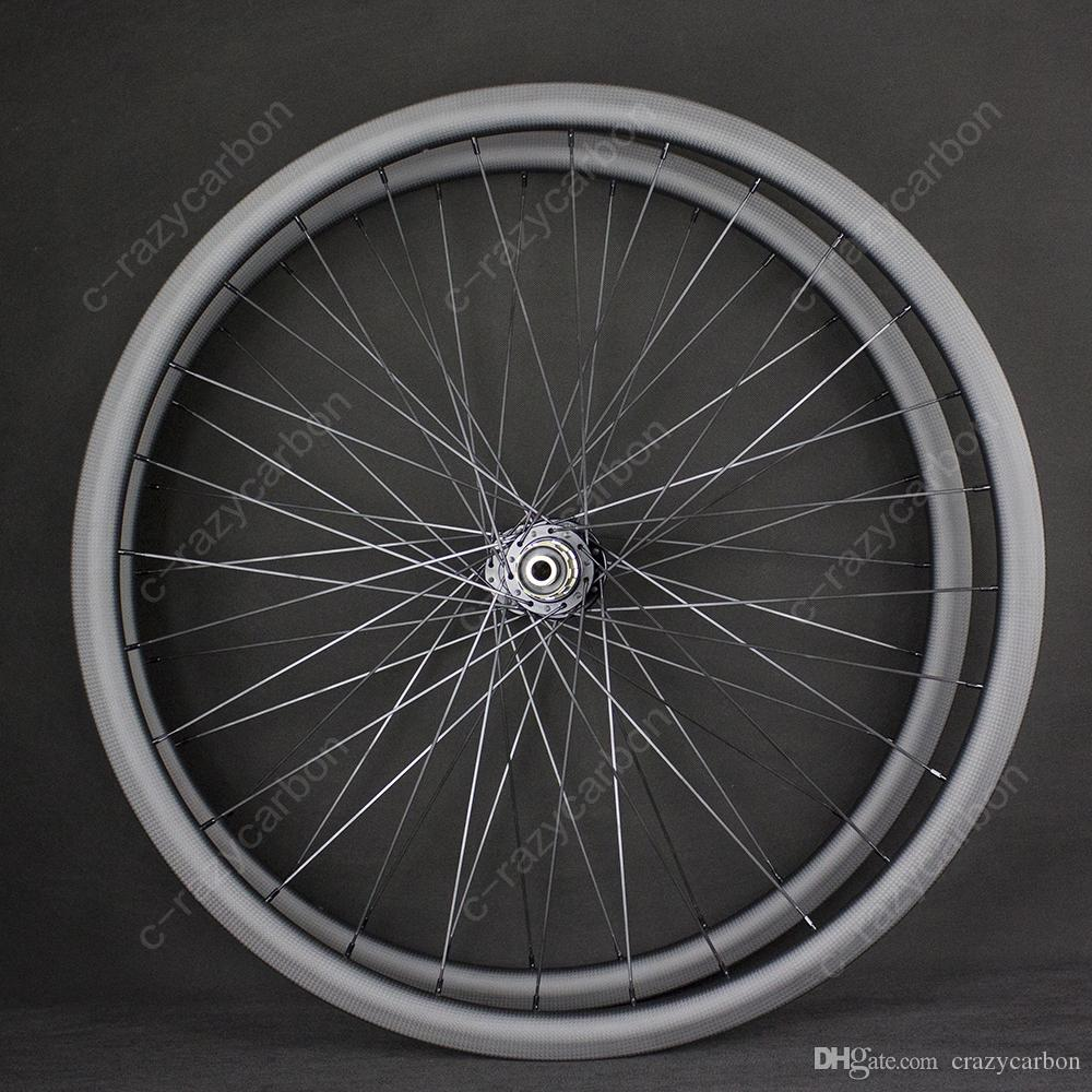 Wholesale Bicycles Wheels Black Road Bicycle Disc Brake 35mm Road Bike Carbon Wheel 700C Racing Road Aero Bicycle Wheels Hot