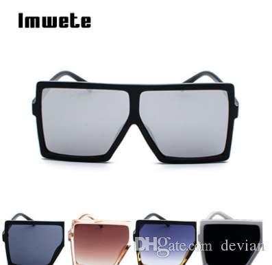 Imwete Oversized Sonnenbrille Frauen Retro Marke Designer Gradient Sonnenbrille Männer Vintage Shades Brillen Große Rahmen Gläser