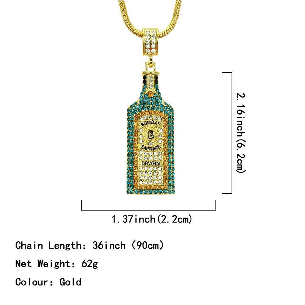 New 14k Yellow Gold 3-D Cork Screw Bottle Opener Pendant