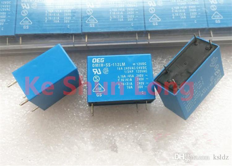 Frete grátis lote (5 peças / lote) TE TYCO OEG OMIH-SS-112LM OMIH-SS-112LM-12VDC 4 pinos 16A 12VDC relé de energia original novo
