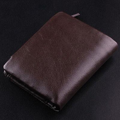 Portefeuille véritable sac à bourse marron homme brun italien pocket € 100 Nouveau cuir JXKLA