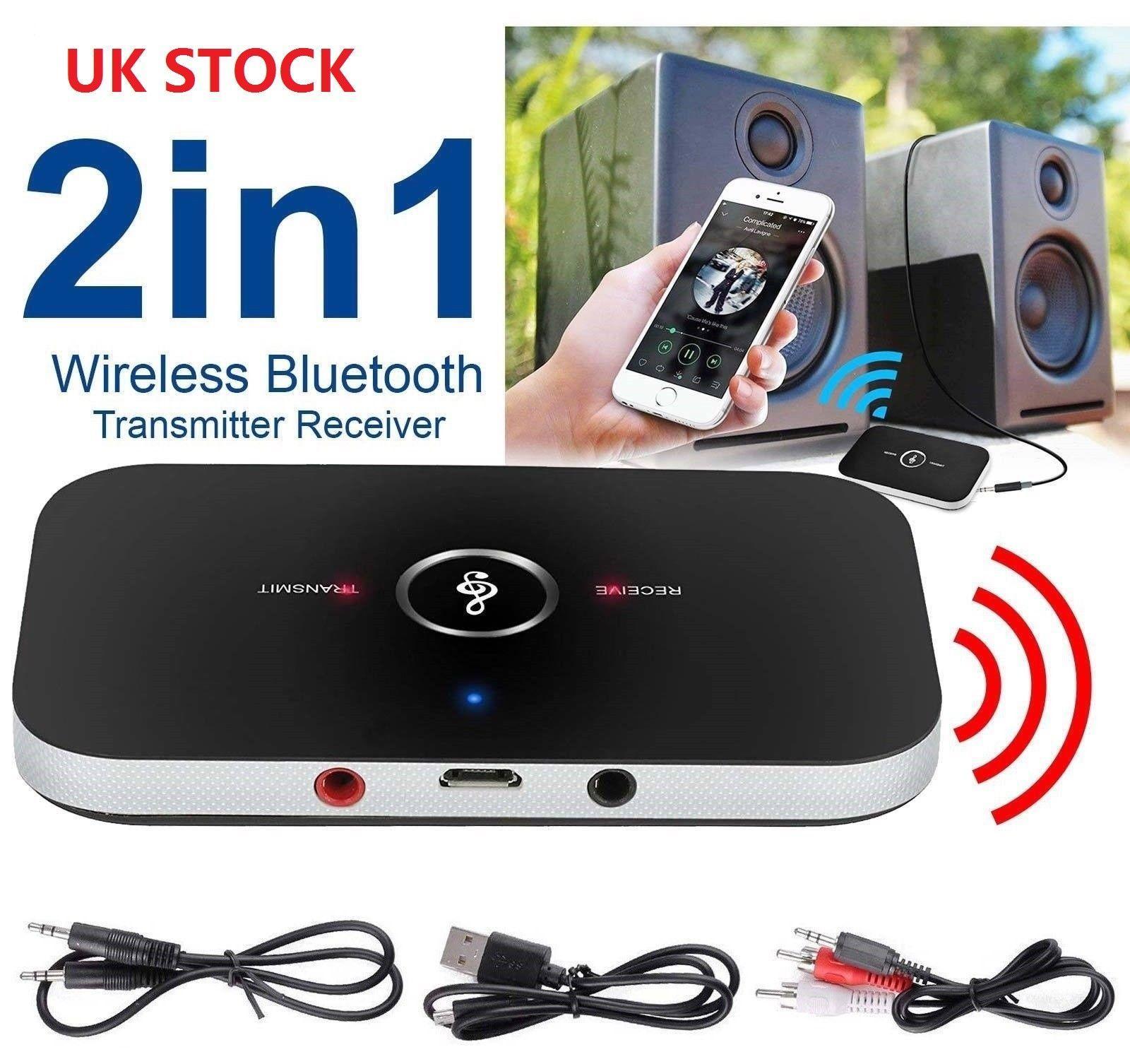 2 in 1 drahtloser Bluetooth-Auto-Audio-Sender-Empfänger HIFI-Musikadapter AUX RCA