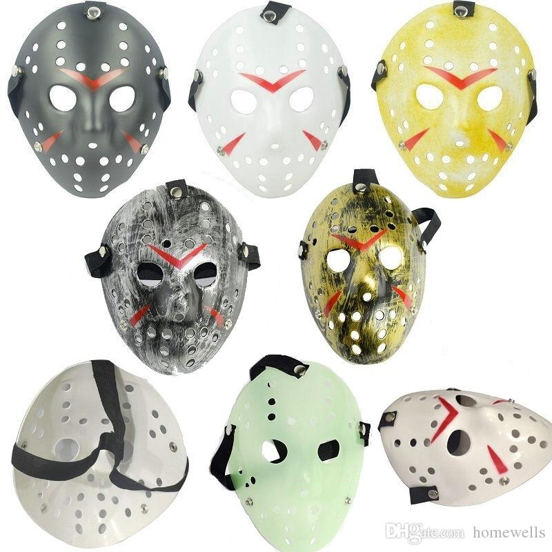 6 стиль анфас маскарадные маски Джейсон косплей череп Маска Джейсон против пятница ужас хоккей Хэллоуин костюм страшно Маска фестиваль партии маски