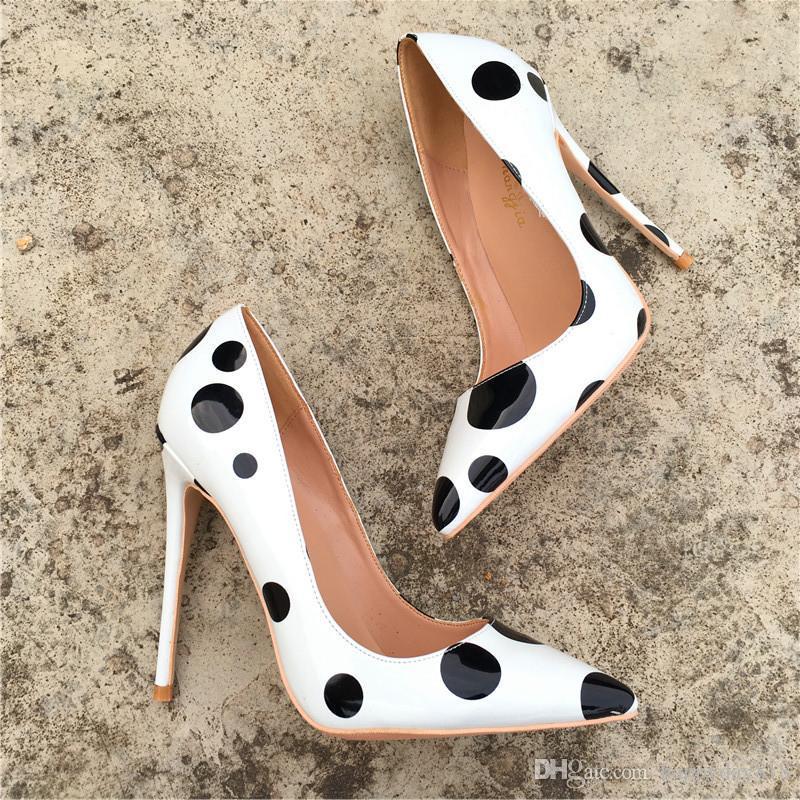 Gerçek fotoğraf moda kadın pompaları seksi bayan beyaz siyah rugan inci kat düz ayakkabı ayakkabı pompaları yepyeni 12cm 10cm 8cm büyük boy