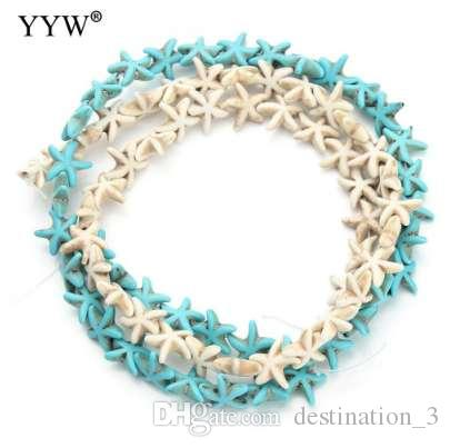 10Strands/Bag Natural Stone White Blue Turquoises Beads Star Loose Beads DIY Necklace Bracelet Jewelry Making Accessories