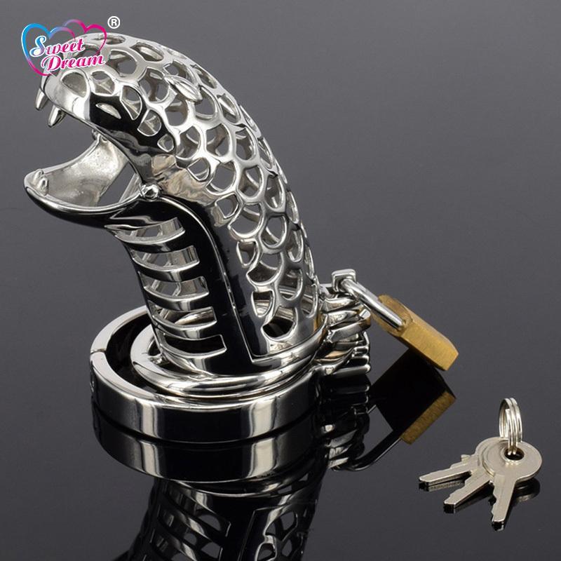 Sweet Dream Dragon 38/41/44/47 / 50mm En Acier Inoxydable Pénis Anneau Dispositif De Chasteté Cock Cage Adulte Bondage Sex Toys pour Hommes LF-108 Y1892804