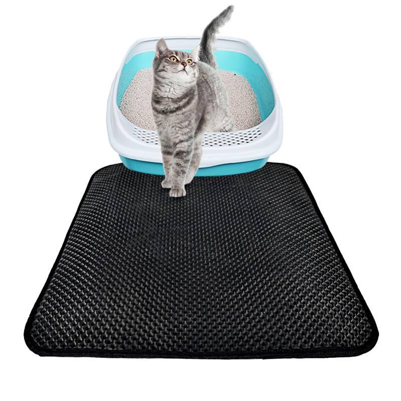 고양이 침대 고양이 쓰레기 매트 EVA 이중 레이어 쓰레기 사다리 매트 방수 바지 레이어 kattenmand 블랙 먹이 침대