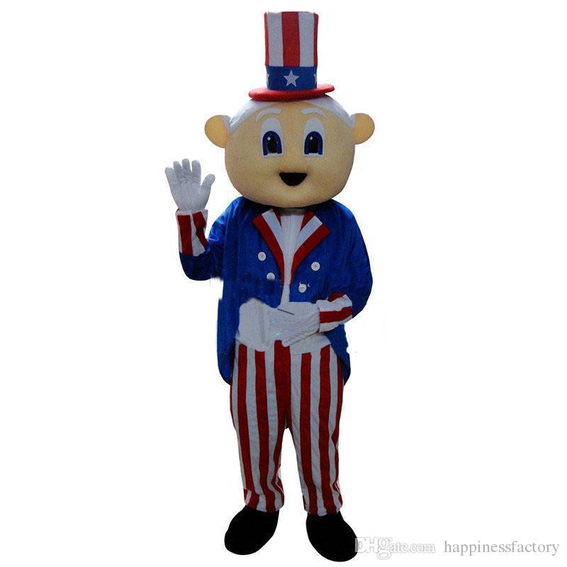 Il costume americano della mascotte del mago dell'uomo anziano di dimensione adulta calda di vendita della fabbrica 2018 libera il trasporto