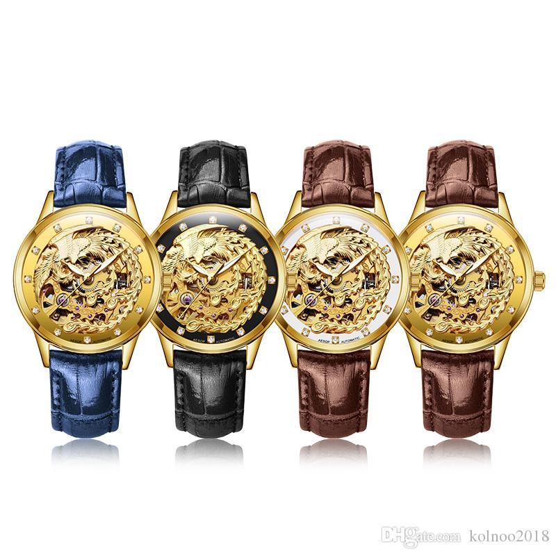 AESOP Lovers Watch Men Women Mechanical Automatic Wrist Wristwatch Couple Male Ladies Clock Relogio Masculino Montre Femme 9008