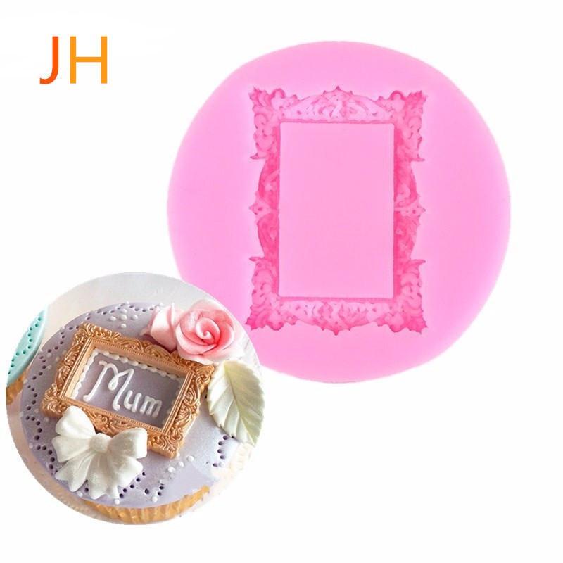 Фабрика продает новый европейский узор рамка зеркало жидкий силикон плесень превращая сахар торт плесень шоколад плесень