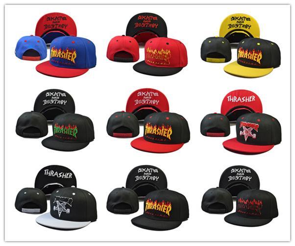 2018 buona vendita di trasporto libero nuovo snapback caps cap punk metallo fiamma hip hop berretti da baseball tesa retro anatra lingua tappi per gli uomini