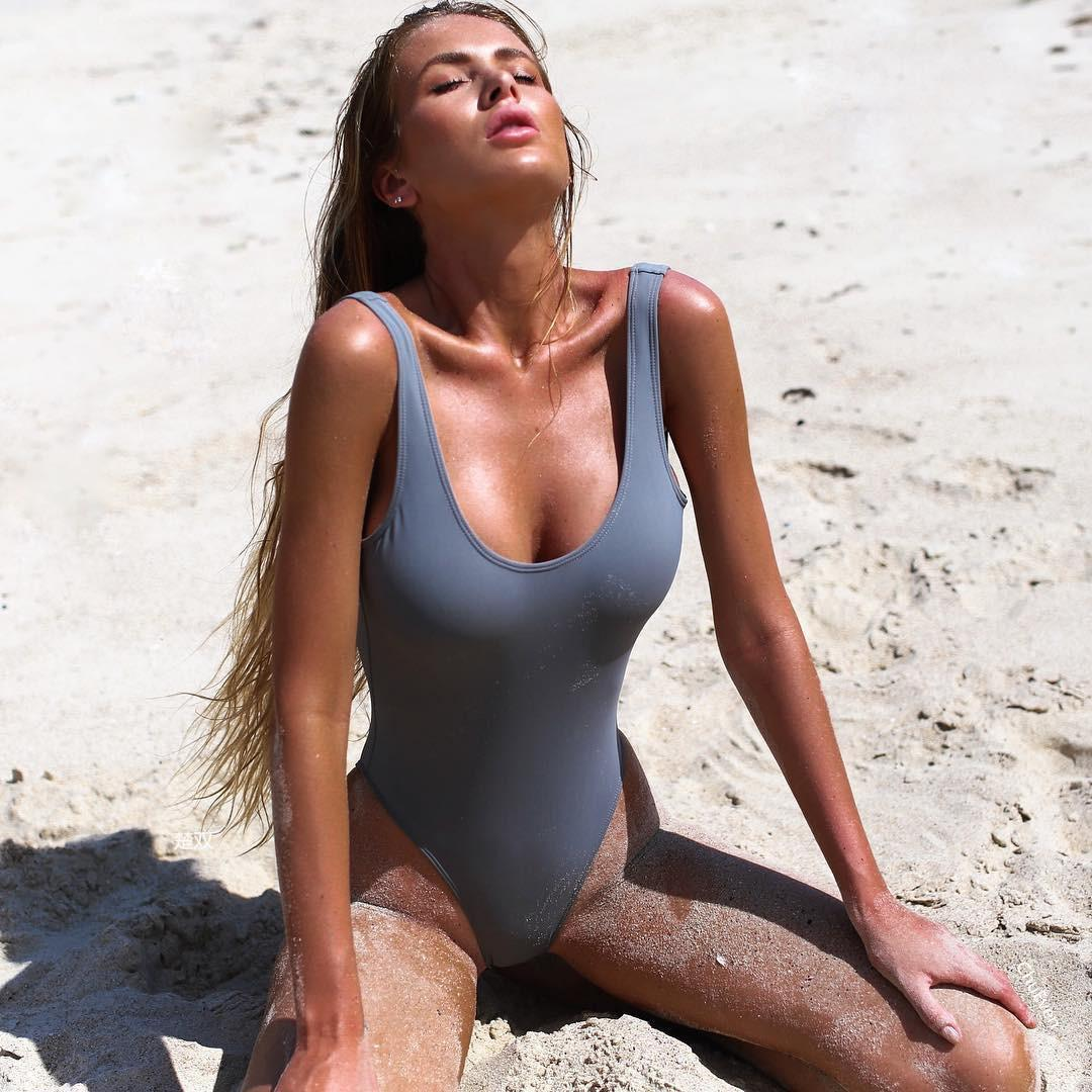 Summer Beach Wear Swimwear Women One Piece Swimsuit Female Swimming Suits for Women Bathing Suits Pink Gray Green Bodysuit Femme