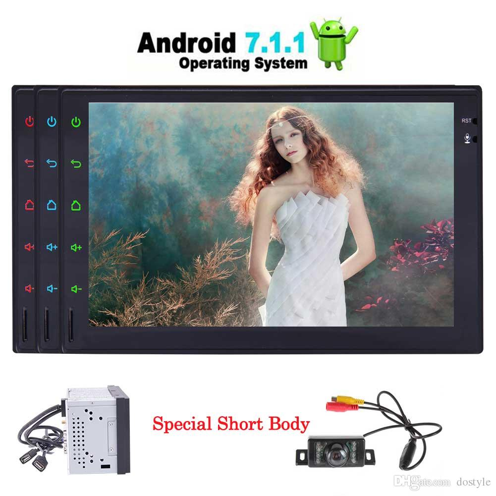 Rear Camera+EinCar Android 7.1 Quad Core Car Stereo Bluetooth Autoradio Video audio Player Double Din Car Radio GPS Navigation Head Unit
