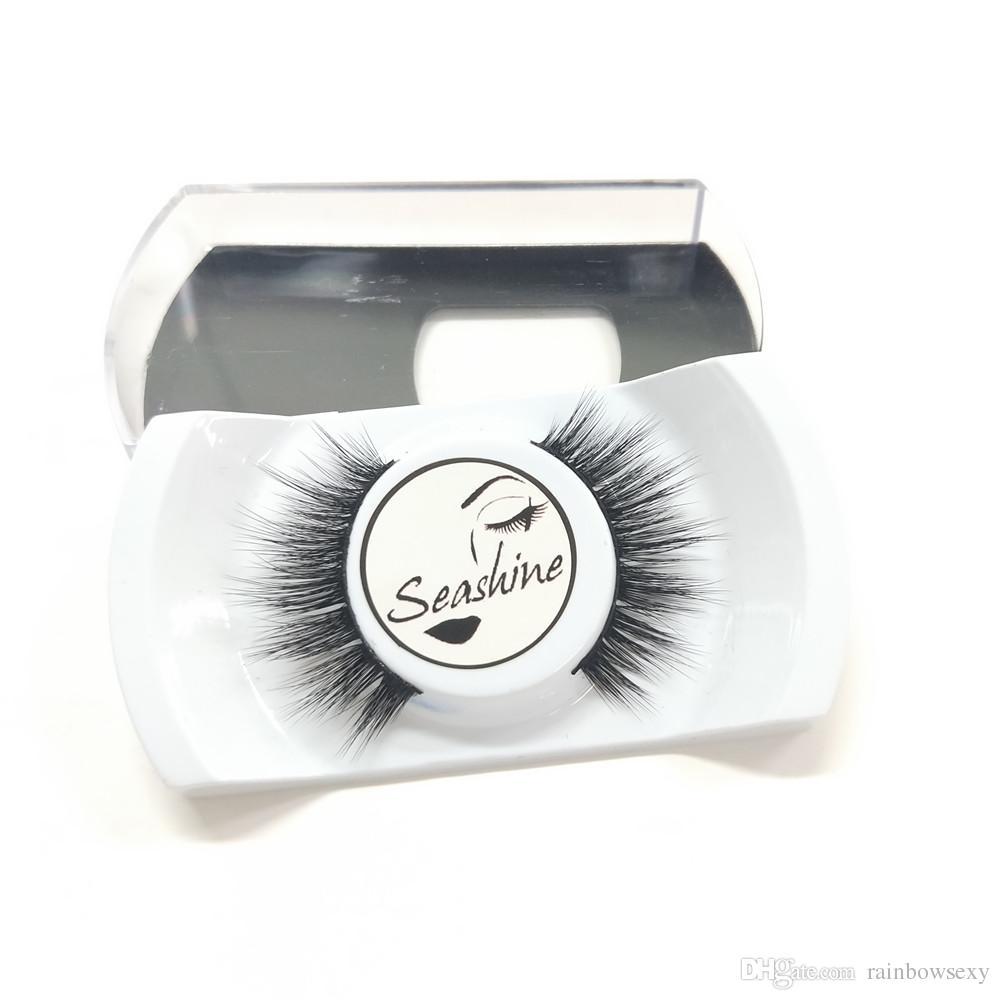 2018 Seashine Mink lashes 3D Mink Eyelashes cruelty free natural false eyelashes volume Lashes Real Mink Fur Handmade Crossing Thick Lash