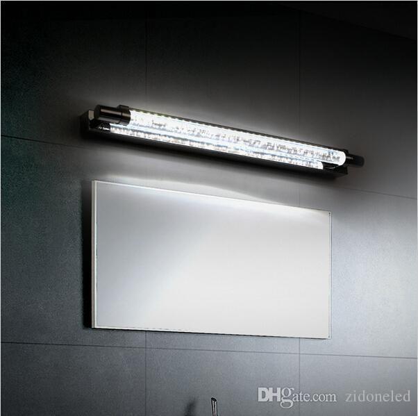 Moderne Cristal LED Salle De Bains Miroir Lumière Avant Mur Monté Lampe 6 W Mur Sonces En Acier Inoxydable Salle De Bains Lumières lampara up down cristal wal