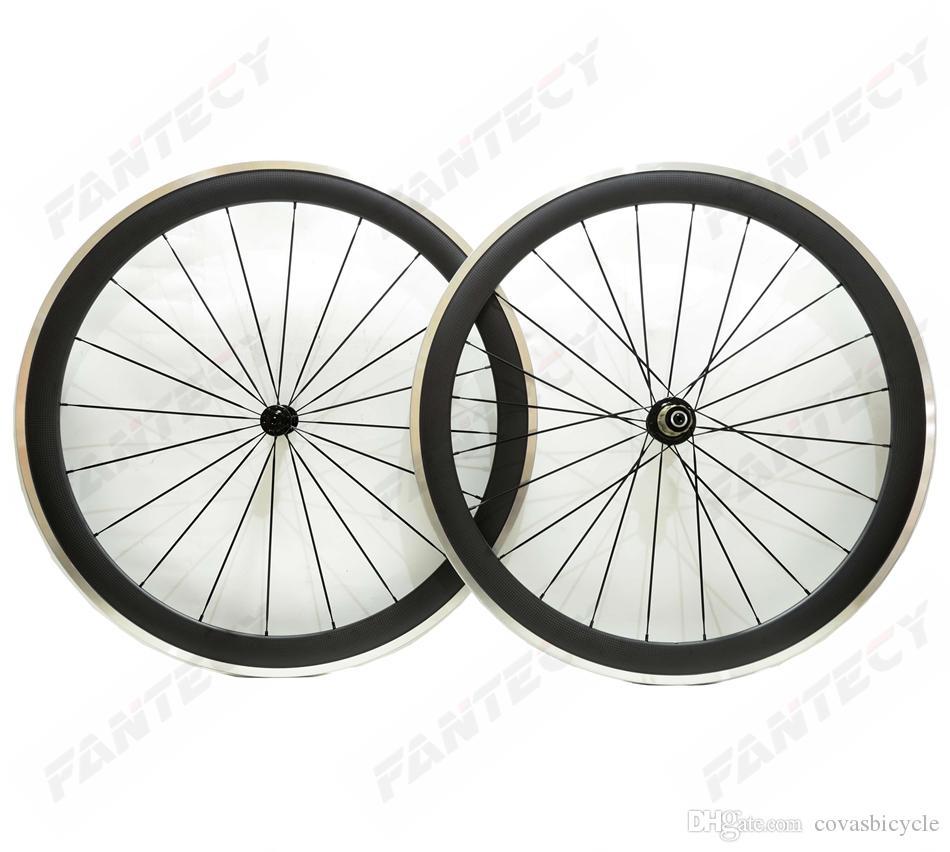 شحن مجاني 700C سبيكة الفرامل سطح الكربون عجلات 50 ملليمتر العمق الطريق الدراجة العجلات 25 ملليمتر عرض الفاصلة سبيكة حافة 3K ماتي النهاية