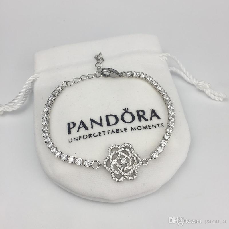 Mode Plaqué Or Améthyste Blanc Zircone Cubique Charme Bangle Bracelet Chaîne