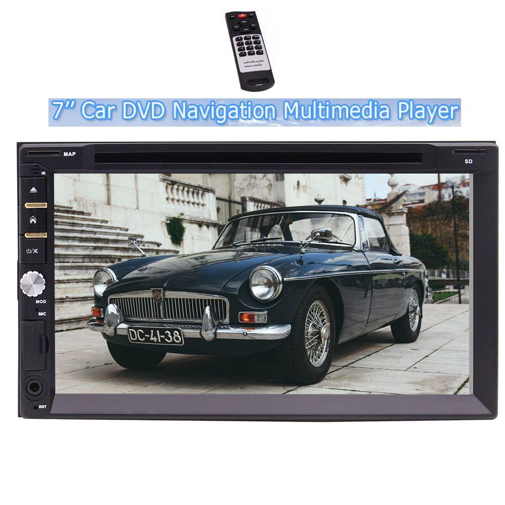 7 '' Auto DVD CD Doppel 2 Din Player Autoradio mit Wince Betriebssystem im Armaturenbrett Haupteinheit No-GPS Support Radio Bluetooth