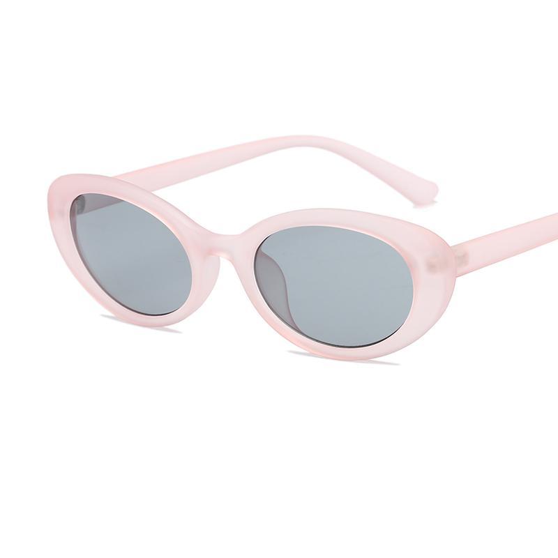Mode billig Vintage Shades 2021 niedliche rosa ovale trendige sonnenbrille kunststoff kleine gläser männer rahmen für frauen wsurs
