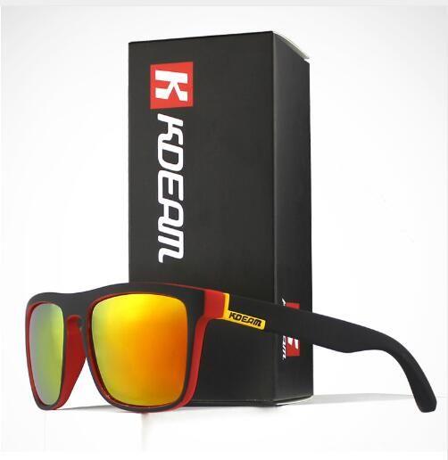 Gafas de sol de Fashion Guy's de Kdeam Gafas de sol polarizadas Hombres Diseño clásico Todo en forma de gafas de sol con espejo