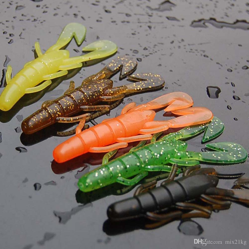 20pcs Soft Worm Shrimp Sea Fishing Lures Tackle Bait Minnow Bait