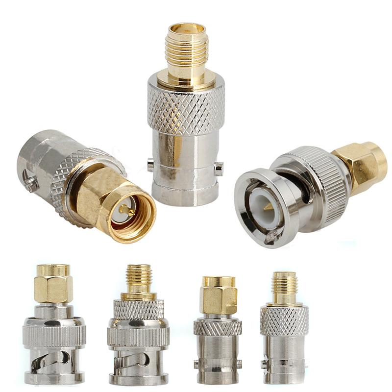 4pcs BNC à connecteurs SMA Type Homme Femelle RF Connector Adaptateur Test Kit de conversion Kit Set