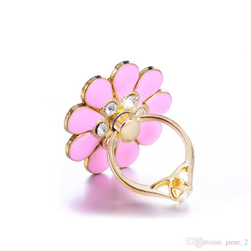 Luxus Universal Fingerring Halter Katze / Pfau Glitter Diamant Für Smart Handy Mädchen Ständer Halter