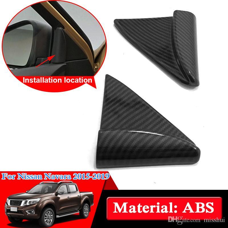 Nissan Navara NP300 Için araba Styling ABS Krom D23 2017-2019 Iç üçgen Sequins İç Dekorasyon Kapak Araba Çıkartmaları