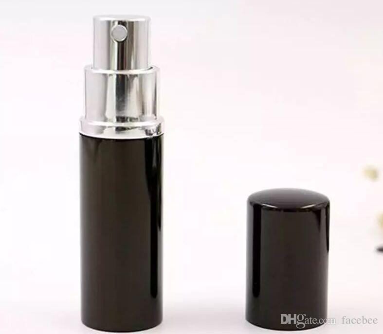 Siyah 10CC 10 ML Mini Taşınabilir Sprey Şişesi Boş Parfüm Şişesi Doldurulabilir Parfüm Atomizer Sprey Seyahat Aksesuarları