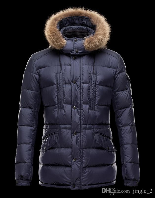 Piumino invernale da uomo Nuovo 95% Piumino d'oca bianca con cappuccio Marchio di abbigliamento maschile di alta qualità Giù Parka 172