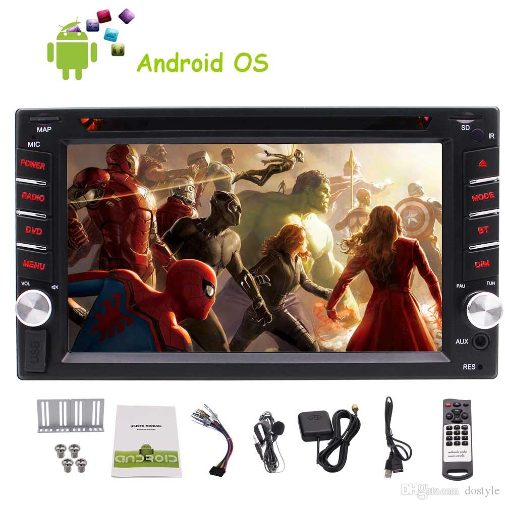"""Extra mic+Universal double 2Din Android 6.0 Car dvd Stereo 6.2"""" Touch Screen Car GPS Navigation System In Dash Bluetooth Autoradio Headunit"""