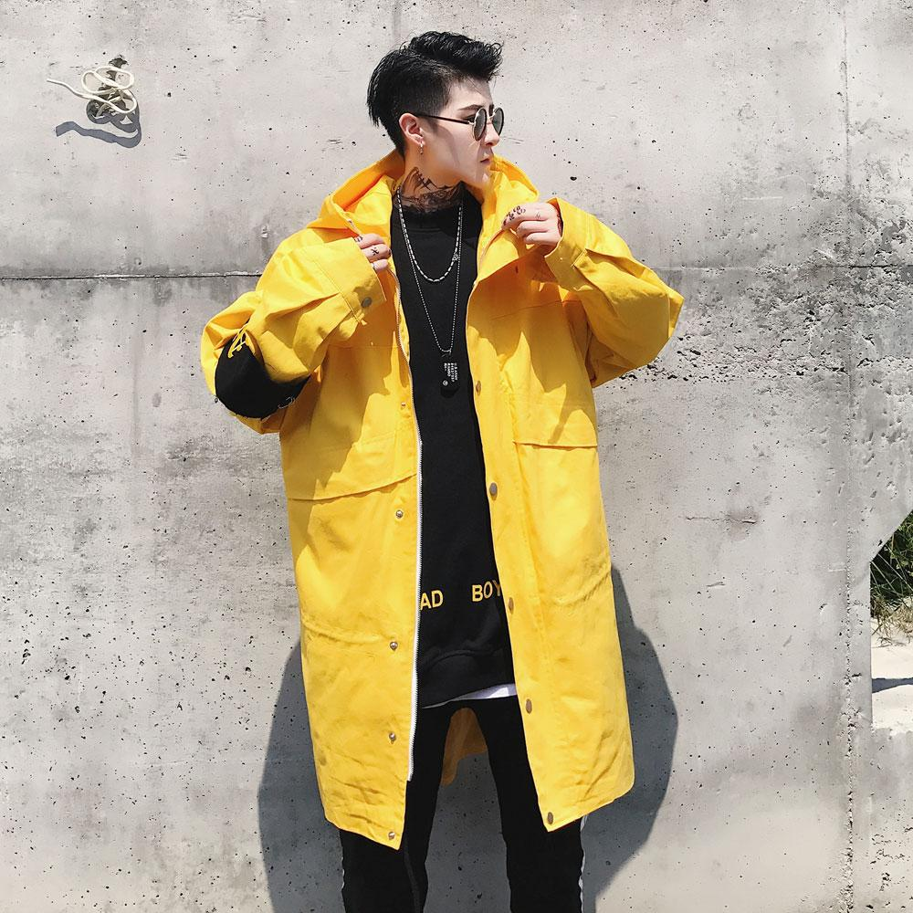 unequal in performance info for official images 2019 Men Hip Hop High Street Lovers Long Loose Trench Coat Male Fashion  Casual Hooded Windbreaker Jacket Mens Overcoat From Southj, $88.9 |  DHgate.Com