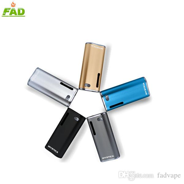 Authentic Mystica VV preheating box mod battery 650mah for bud cartridge g2 with variable voltage and magnet connection