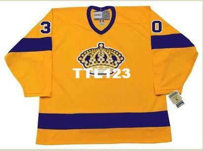 Men  30 DENIS DEJORDY Los Angeles Kings 1970 CCM Vintage Home Hockey Jersey  or custom any name or number retro Jersey d170019f4