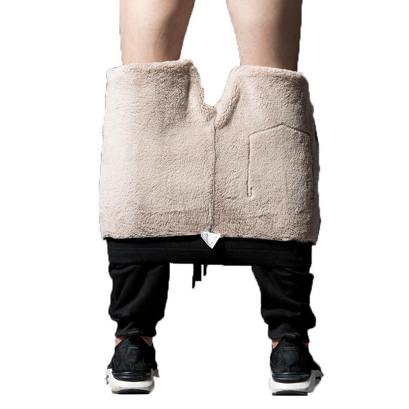 Mens corredores calças 2018 homens sweatpants Algodão Heavyweight Harem Pants streetwear engrossar velo inverno calças quentes masculino L-8XL