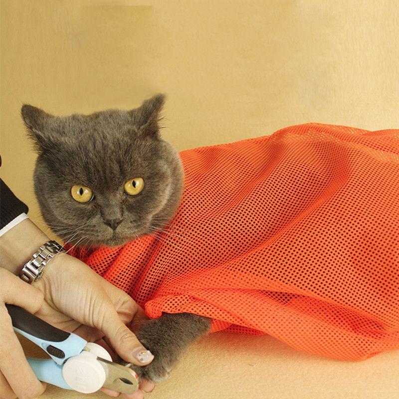 Cat Grooming Bag Bath Bag Multifunctional Clean Washing Bag Grooming Wash Supply Medicine Injecting Pet Nail Trimming Tool