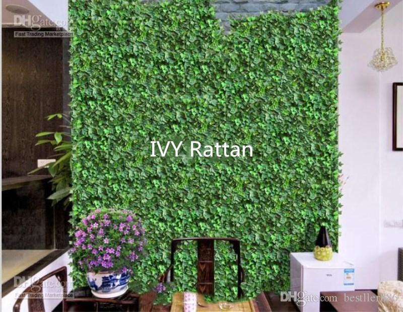 "98""(250 cm) New Artificial Silk Simulation Climbing Vines Flower Green Leaf Ivy Rattan for Home Wall Decor Bar Party Decoration"