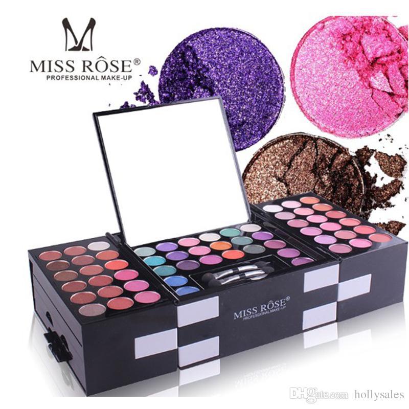 Fröken Rose Matte Eyeshadow Make Up Palette Professionell 142 Färger Ögon Skugga Ögonbryn Pulver Blush Combination Makeup Set Kit DHL Gratis