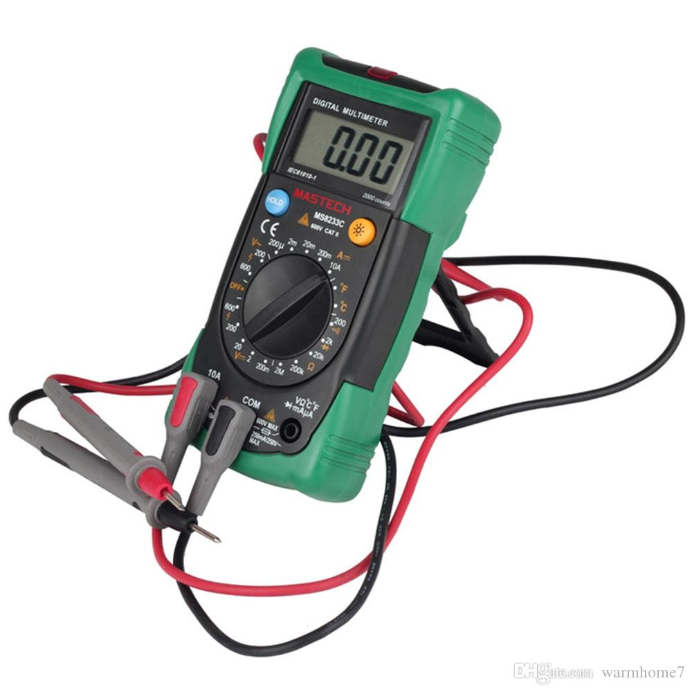 MASTECH Tester Digital Multimeter Manual Range Data Hold DMM AC/DC Ammeter Voltmeter NCV Diode Check Continuity Test