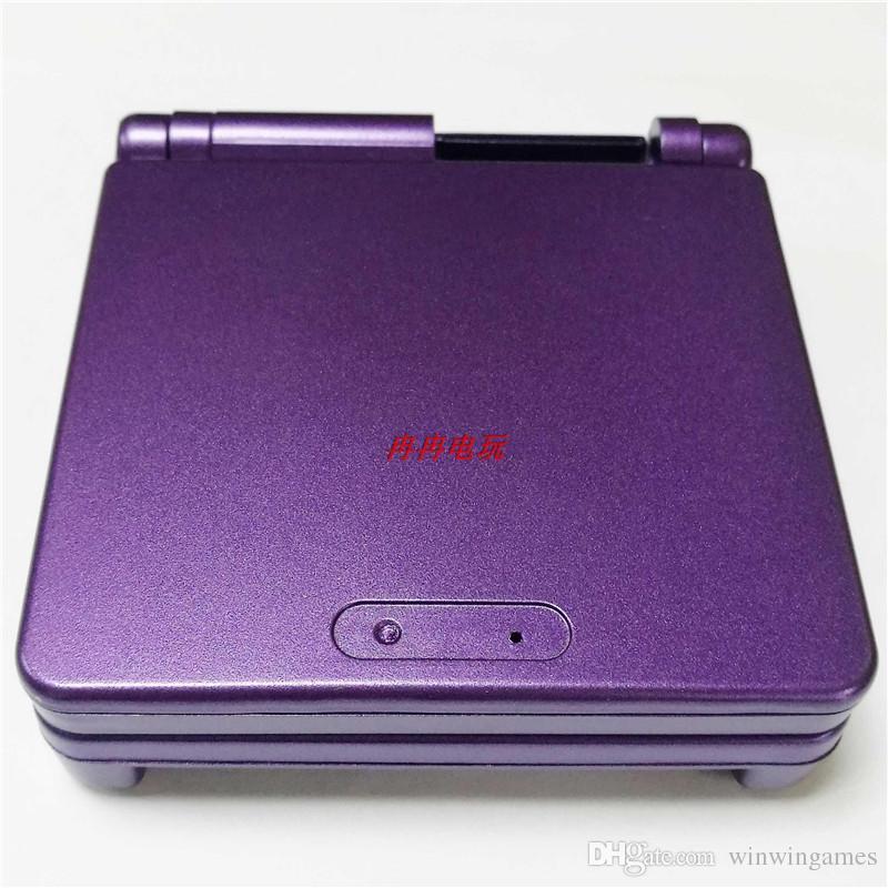 اللون الأرجواني ل GBA SP ل Gameboy الإسكان حالة الغطاء استبدال كامل شل ل Advance SP