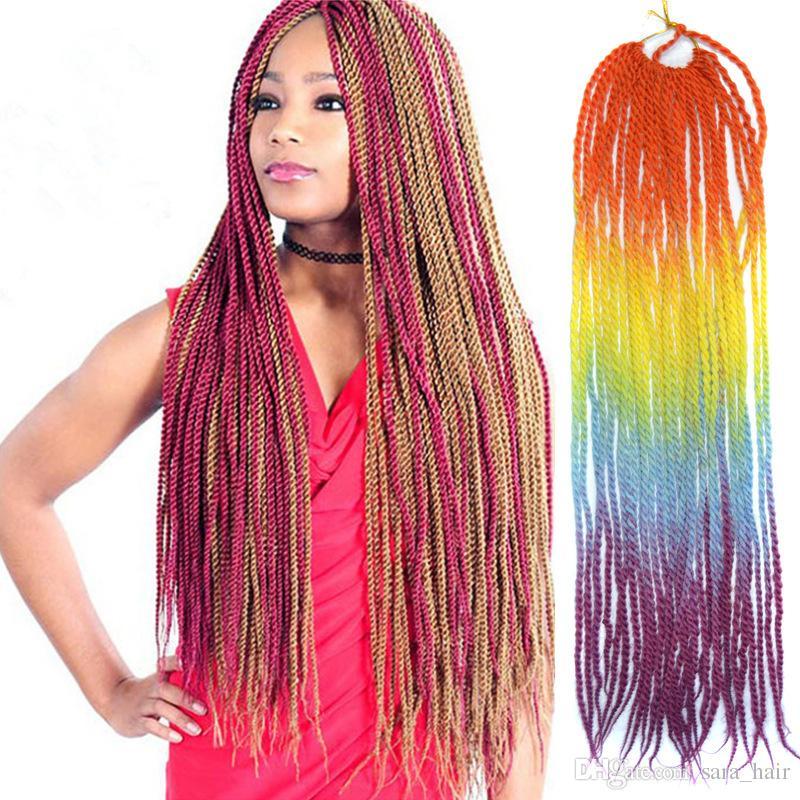 Sara Afro Colorful Soft Dread Lock & Ombre Braiding Hair Extensions Hair Piece Havana Mambo Twist Braids Hair Hairpieces 60CM,24Inch