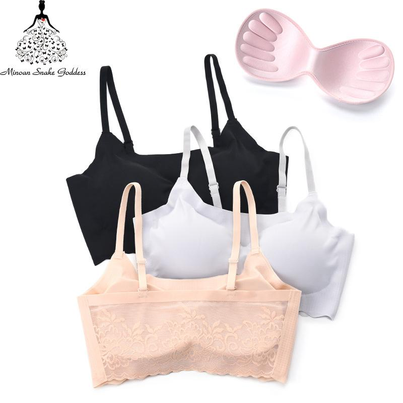 Sexy Lace Bra Women Underwear Bralette Push Up Seamless Bras For Woman Ultra Thin Ice Silk Beauty Back Comfortable Breathable BH