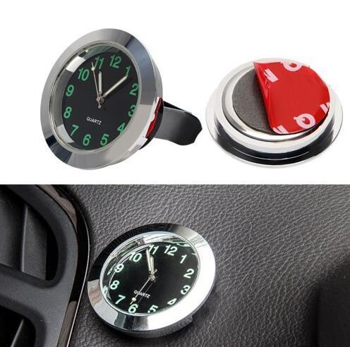 mini voiture horloge pointeur montre intérieur la décoration des automobiles