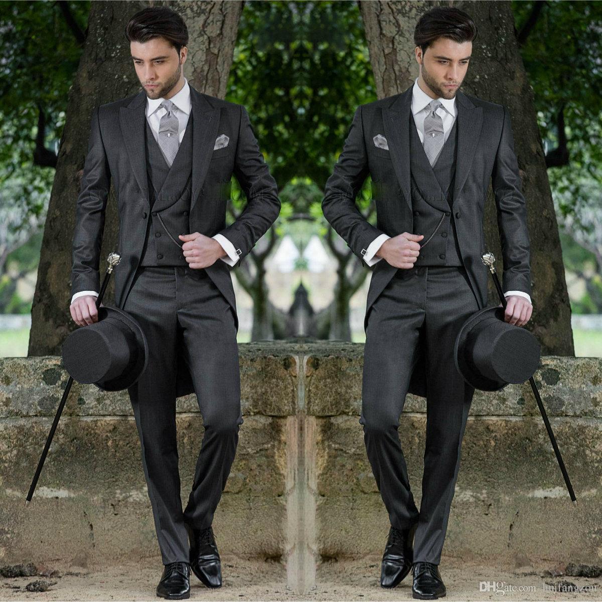 2018 costumes pour hommes formels surpensés épouser les maris smokings garçons d'honneur meilleurs costumes de mariage homme vêtements pour les mariés (veste + veste + pantalon)
