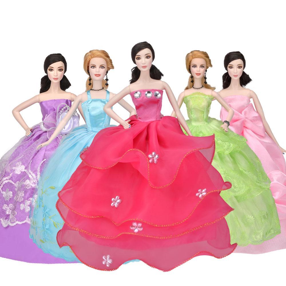 Vestido de muñeca de fiesta hecho a mano Vestido Princesa Ropa de boda para 1/6 Accesorios de muñeca Traje