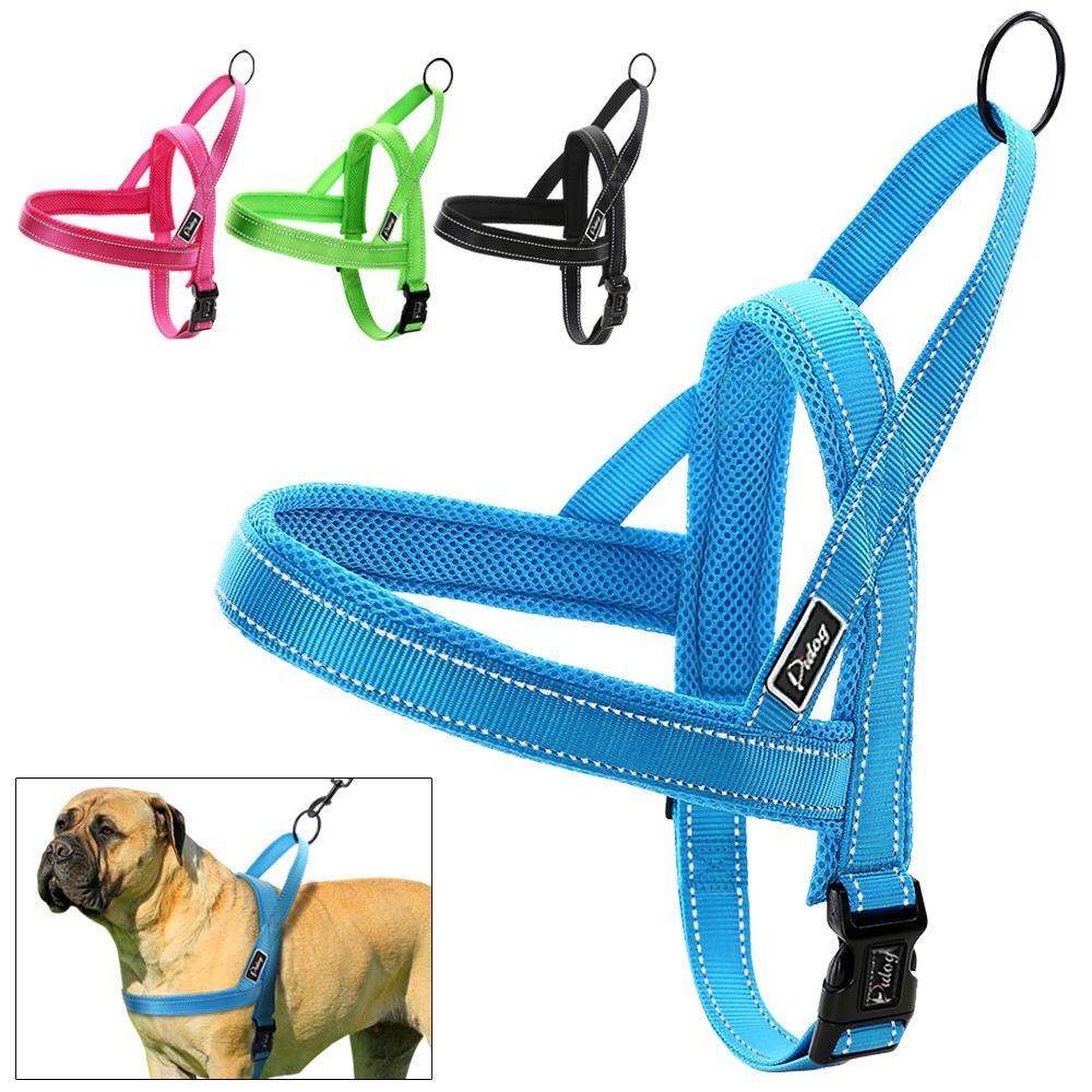 No Pull Nylon Imbracatura per cani con cucitura riflettente Quick Fit per cani di taglia piccola Large XXS XS S M L 4 colori regolabili