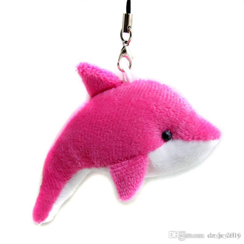 Schöne Mischfarbe Mini Nette Delphin Charme Kinder Plüsch Spielzeug Home Party Anhänger Geschenk Dekorationen Freies Verschiffen