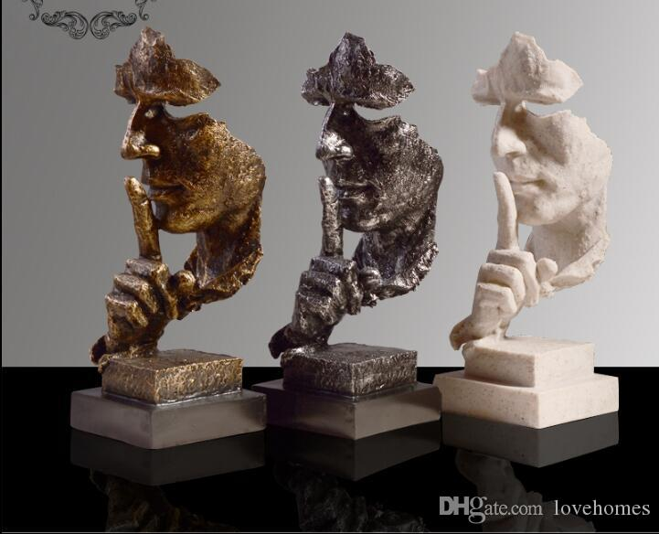 Resumen gente forma moderna escultura estatua adorno artesanía para decoraciones para el hogar HD01