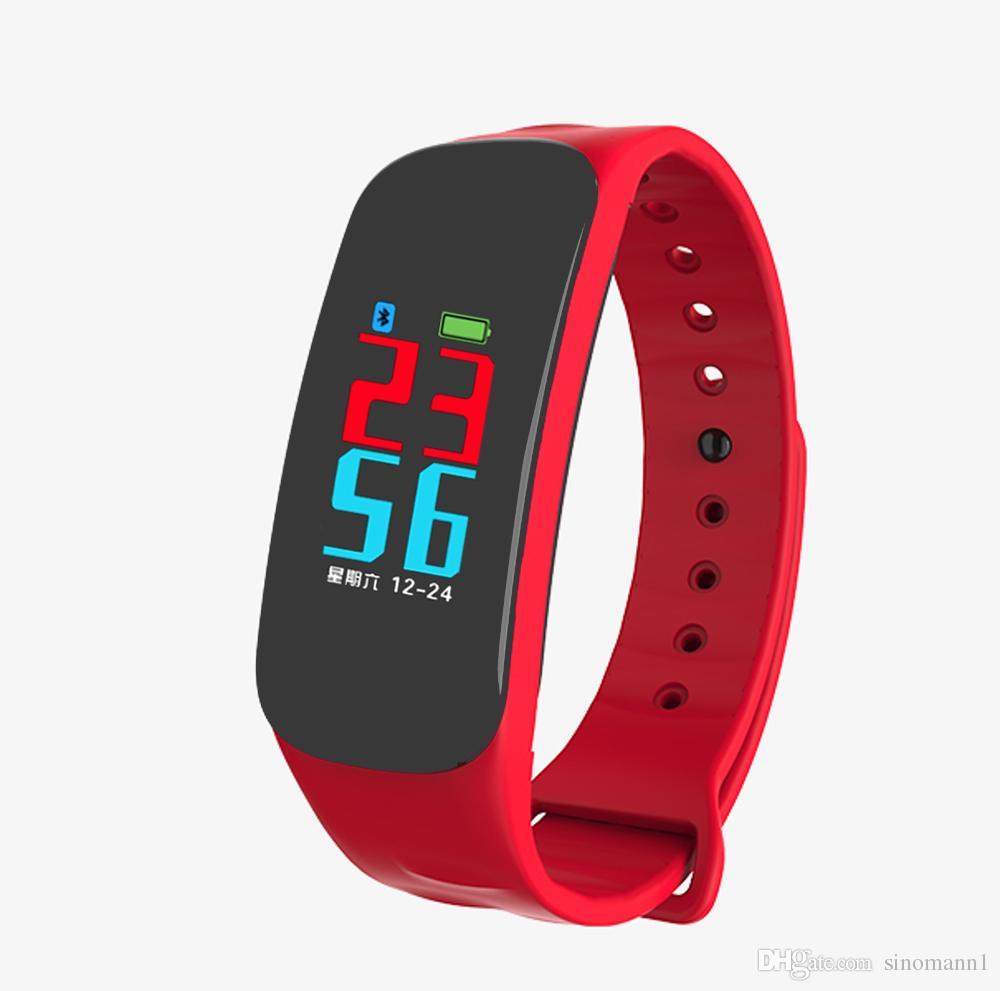 C1 Bluetooth Smart Band Blood Pressure Heart Rate Monitor Wristband Waterproof Fitness Bracelet Sleep Tracker watch pk mi band 2 3