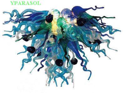 Style populaire à bas prix en verre de Murano coloré LED Lustre Saving lumière Source Dale Chihuly verre de mariage Chandelier